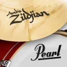 Pearl Mahogany Classic Kit w/ Zildjian Cymbals